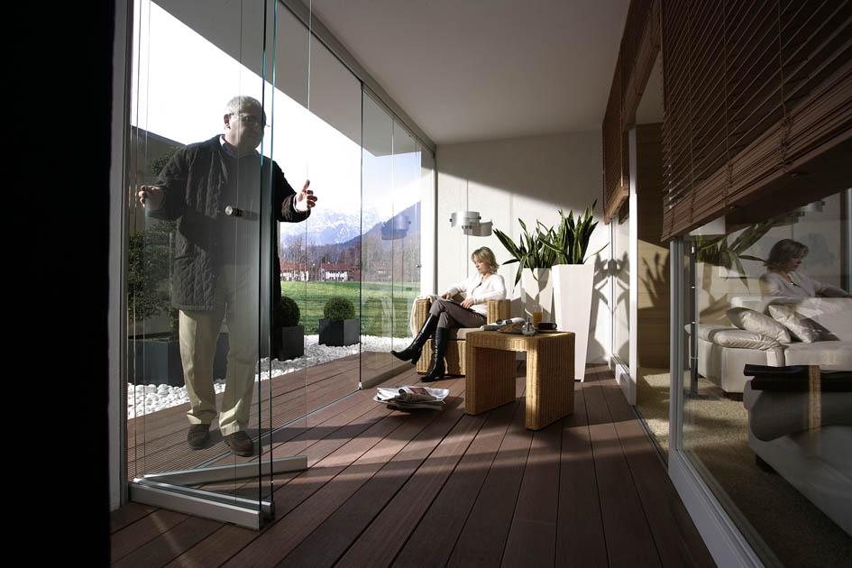 Glastrennwände im Außenbereich