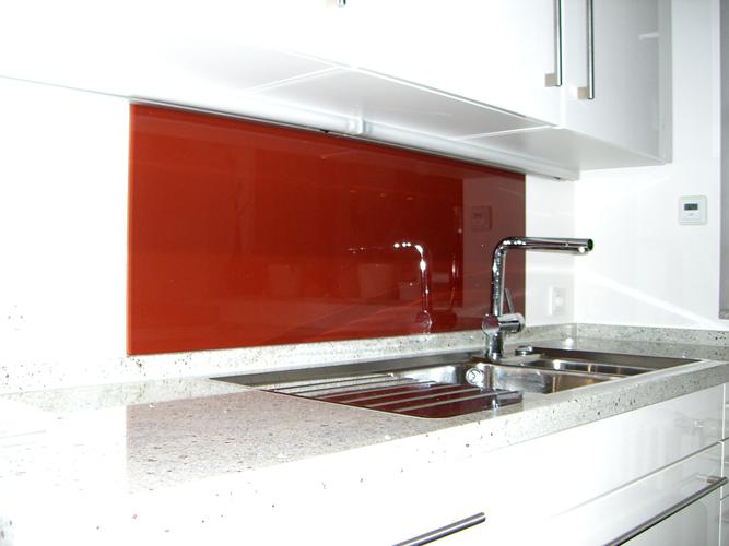 Glasrückwand in der Küche