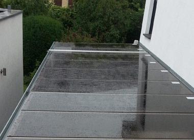 Carport Dachverglasung